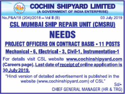 cochin-shipyard-limited-requires-project-officer-ad-delhi-times-10-07-2019.png