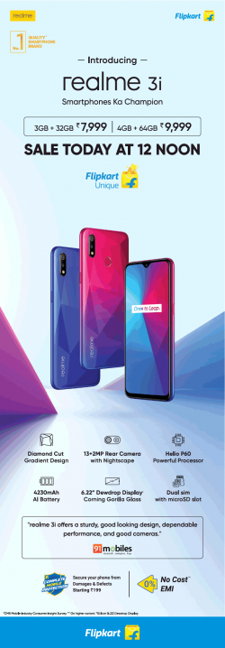 flipkart-introducing-realme-3i-ad-times-of-india-delhi-23-07-2019.png