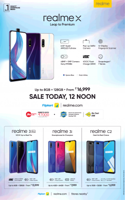 flipkart-realme-x-sale-today-12-noon-ad-times-of-india-delhi-24-07-2019.png