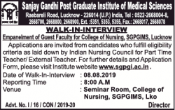 sanjay-gandhi-post-graduate-walk-in-interview-ad-times-of-india-delhi-04-07-2019.png