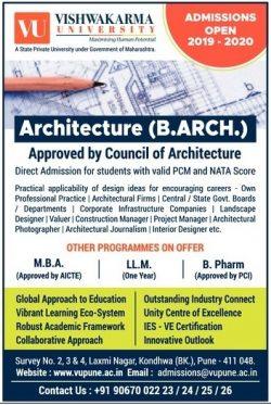 vishwakarma-university-architecture-admissions-open-2019-2020-ad-lokmat-mumbai-27-07-2019.jpg