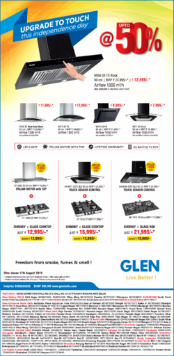 glen-upgrade-to-touch-this-independence-day-at-upto-50%-ad-delhi-times-03-08-2019.png