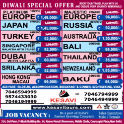 kesavi-tours-and-travels-pvt-ltd-diwali-special-offer-ad-delhi-times-09-08-2019.png