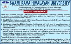 swami-rama-himalayan-university-urgent-requirement-head-hr-ad-times-ascent-delhi-14-08-2019.png