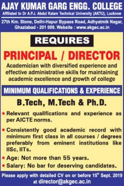 ajay-kumar-garg-engg-college-requires-principal-director-ad-times-ascent-delhi-04-09-2019.png