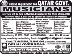 delhi-overseas-urgent-requirement-for-qater-govt-musicians-ad-times-ascent-delhi-04-09-2019.png