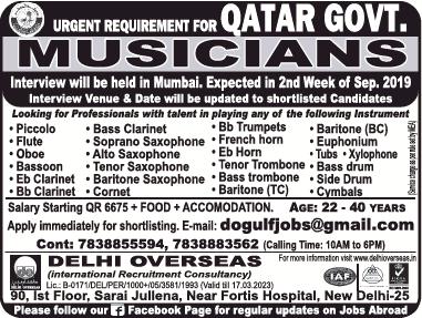 delhi-overseas-urgent-requirement-for-qater-govt-musicians-ad-times-ascent-delhi-04-09-2019.png