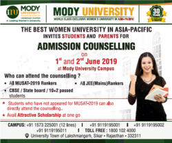 mody-university-the-best-women-university-in-asia-pacific-ad-times-of-india-delhi-31-08-2019.png