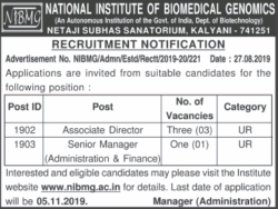 national-institute-of-biomedical-genomics-recruitment-notice-associate-director-ad-delhi-times-04-09-2019.png