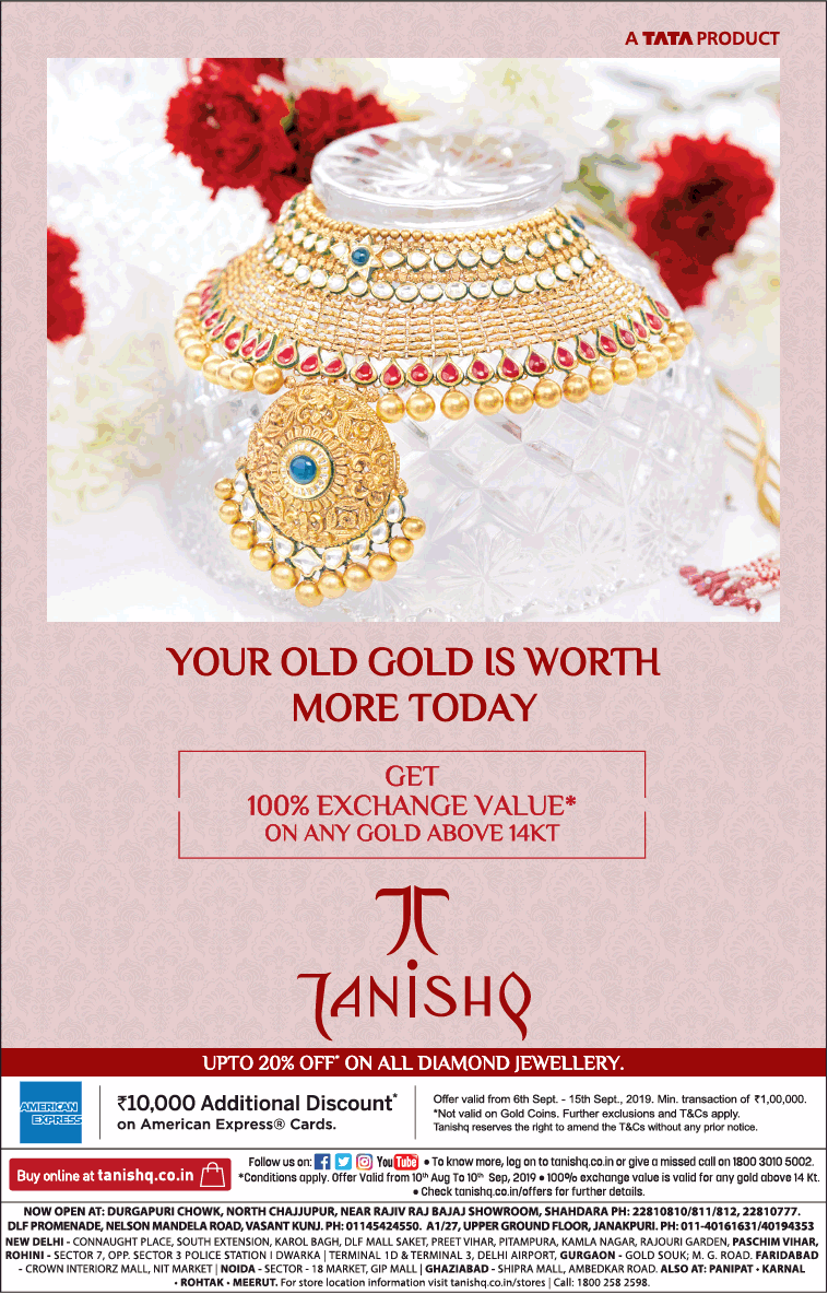 tanishq-jewellers-get-100%-exchange-value-ad-times-of-india-delhi-06-09-2019.png