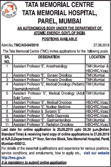 tata-memorial-centre-requires-assistant-professor-ad-times-ascent-delhi-04-09-2019.png