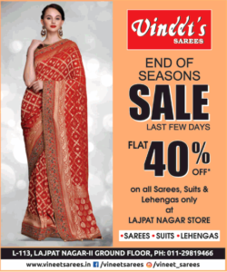 vineets-sarees-end-of-season-sale-flat-40%-off-ad-times-of-india-delhi-06-09-2019.png
