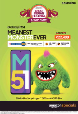 amazon-special-samsung-galaxy-m51-meanest-monster-ever-7000mah-snapdragon-730-g-samoled-plus-rs-22499-ad-toi-mumbai-17-10-2020