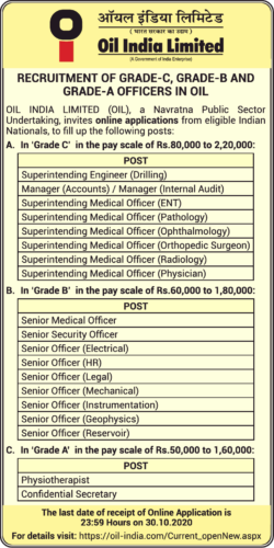 oil-india-limited-recruitment-of-grade-officers-ad-toi-mumbai-2-10-2020