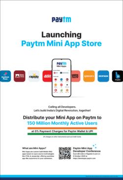 paytm launching mini app store ad toi mumbai