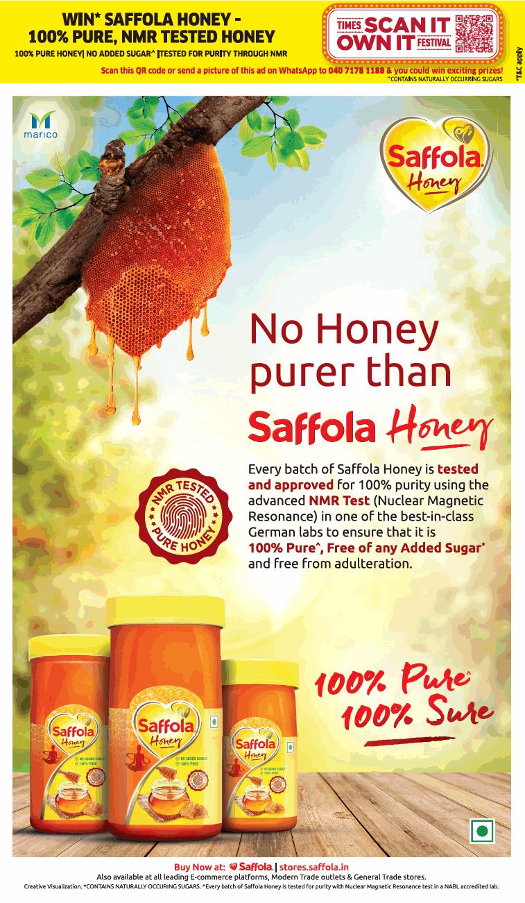 saffola-no-honey-purer-than-saffola-honey-ad-toi-delhi-31-10-2020