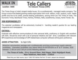 times-group-tele-callers-recruitment-ad-toi-delhi-8-10-2020