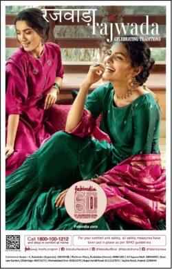 fabindia-rajwada-green-and-magenta-suit-ad-toi-ahmedabad-6-11-2020