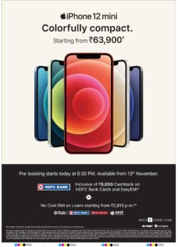 iphone-12-mini-colorfully-compact-starting-from-rs-63900-ad-deccan-chronicle-hyderabad-6-11-2020