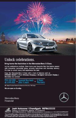 mercedes-benz-c-class-unlock-celebrations-rs-34444-emi-ad-toi-chandigarh-4-11-2020