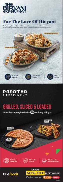 ola-foods-enjoy-50%-off-on-top-variants-the-biryani-experiment-paratha-experiment-ad-toi-bangalore-13-11-2020