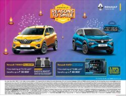 renault-reasons-to-smile-test-drive-challenge-triber-kwid-ad-toi-hyderabad-4-11-2020