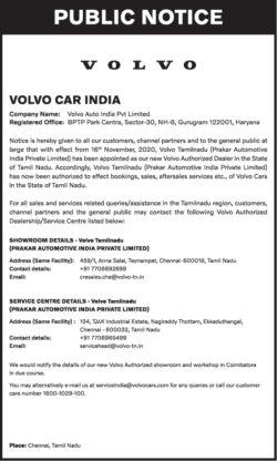 volvo-car-india-public-notice-ad-toi-chennai-13-11-2020