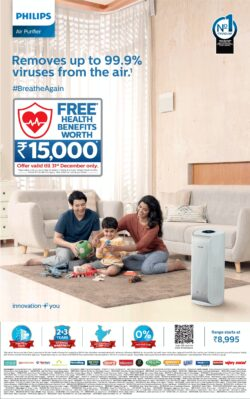 philips-air-purifier-removes-up-to-999%-viruses-from-the-air-ad-delhi-times-28-12-2020