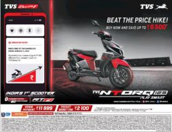 Tvs-Beat-The-Price-Hike-Indias-1St-Scooter-Tvs-Ntorq-125-Play-Smart-Ad-Bangalore-Times-29-12-2020