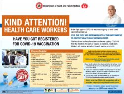 department-of-health-and-family-welfare-kind-attention-health-care-workers-ad-times-of-india-bangalore-08-01-2021