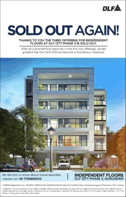dlf-sold-out-again-independent-floors-dlf-city-phase-3-gurugram-ad-times-of-india-delhi-13-01-2021