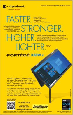 dynabook-portege-x30w-j-faster-stronger-higher-lighter-ad-times-of-india-mumbai-21-01-2021