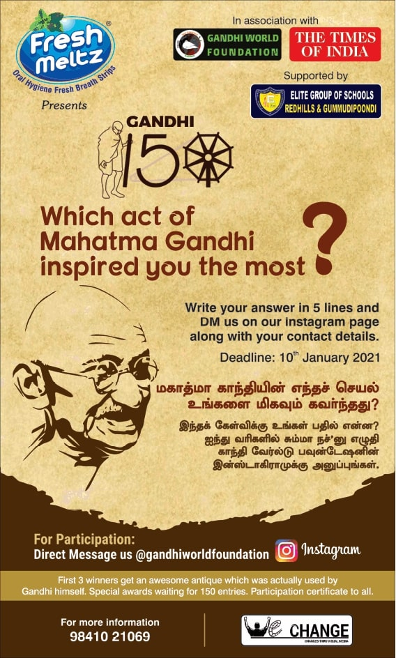 fresh-meltz-gandhi-150-which-act-of-mahatma-gandhi-inspired-you-the-most-ad-chennai-times-08-01-2021