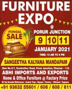 furniture-expo-pongal-sale-at-porur-junction-9-10-11-january-2021-ad-chennai-times-10-01-2021