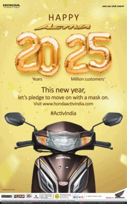 honda-happy-activa-20-years-25-million-customers-ad-times-of-india-mumbai-01-01-2021