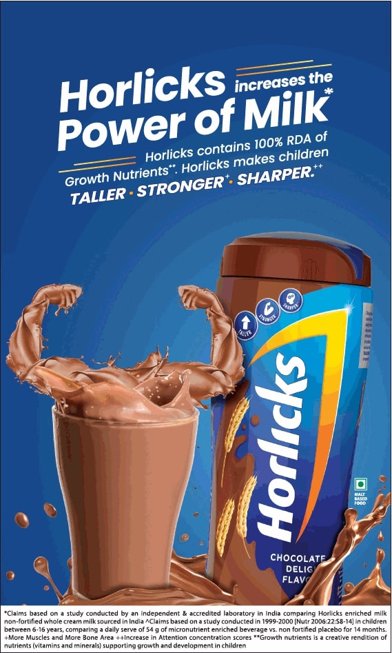 horlicks-increases-the-power-of-milk-horlicks-contains-100%-rda-ad-times-of-india-delhi-10-01-2021