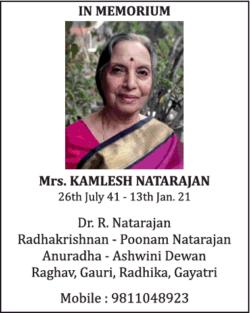 in-memorium-mrs-kamlesh-natarajan-ad-times-of-india-delhi-14-01-2021