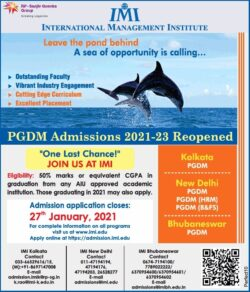 international-management-institute-pgdm-admissions-2021-23-reopened-ad-times-of-india-mumbai-08-01-2021