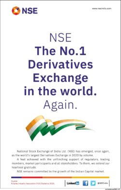 nse-the-no-1-derivatives-exhange-in-the-world-again-ad-times-of-india-mumbai-26-01-2021