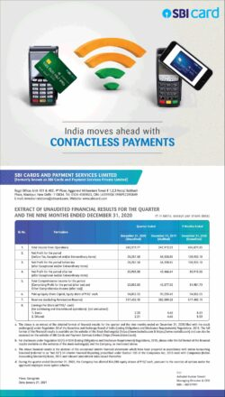 sbi-card-and-payment-services-limited-contactless-payments-ad-times-of-india-mumbai-23-01-2021