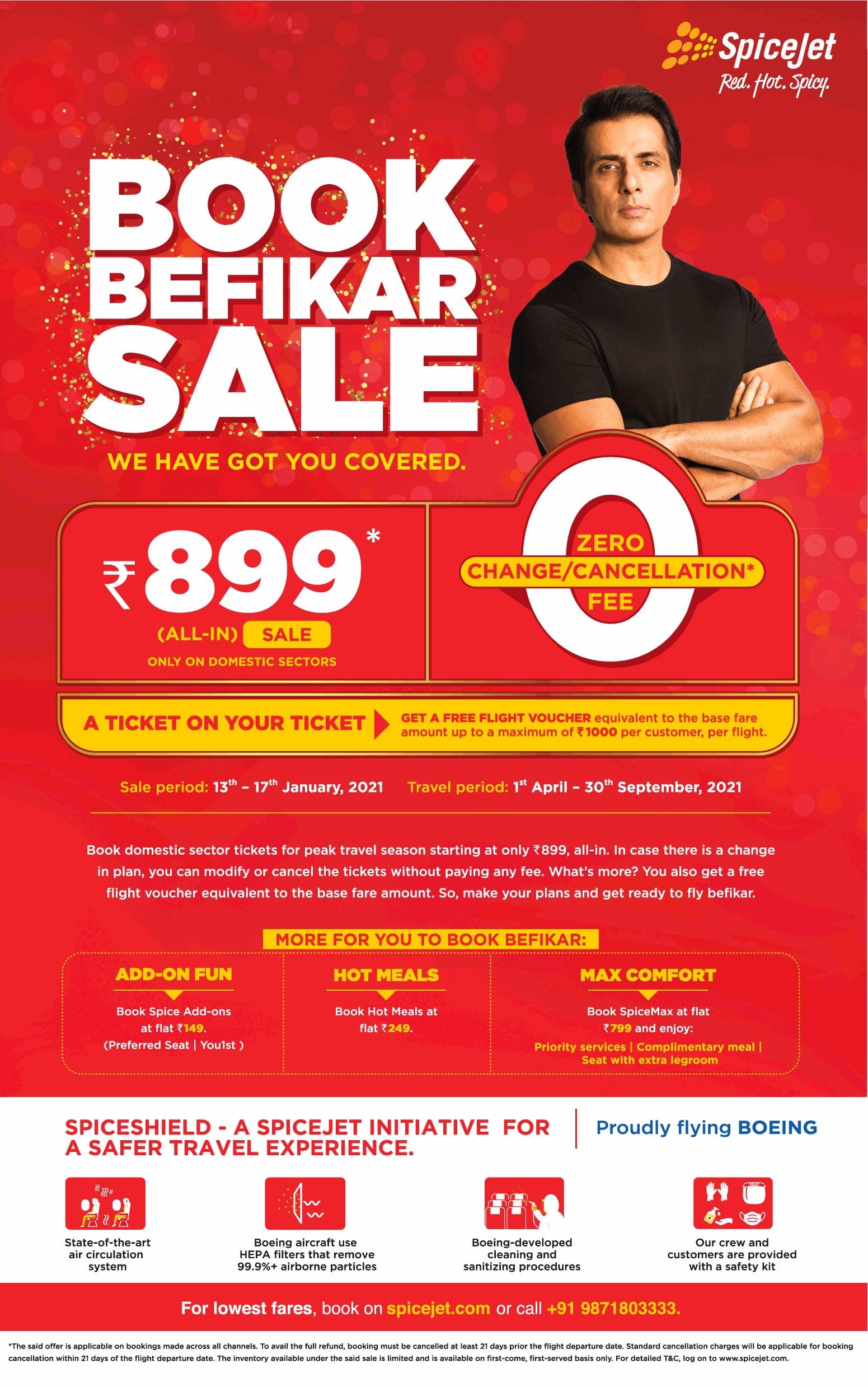 spice-jet-book-befikar-sale-ad-times-of-india-delhi-13-01-2021