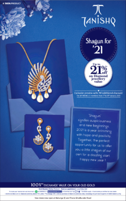 tanishq-shagun-for-21-up-to-21%-off-on-diamond-jewellery-value-ad-times-of-india-mumbai-09-01-2021