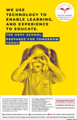 the-hdfc-school-admissions-open-for-nursery-to-grade-ix-ad-times-of-india-bangalore-22-01-2021