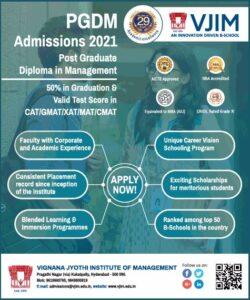 vignana-jyothi-institute-of-management-pgdm-admissions-2021-ad-times-of-india-mumbai-08-01-2021