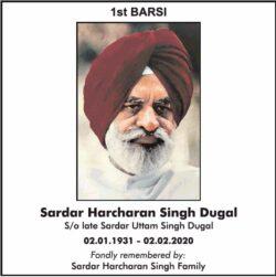 1st-barsi-sardar-harcharan-singh-dugal-ad-times-of-india-delhi-02-02-2021