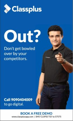 classplus-out-do-not-get-bowled-saurabh-ganguly-ad-delhi-times-31-01-2021