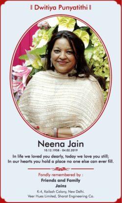 dwitiya-punyatithi-neena-jain-ad-times-of-india-delhi-04-02-2021