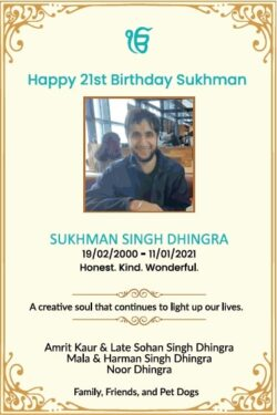 remembrance-happy-21st-birthday-sukhman-singh-dhingra-ad-times-of-india-delhi-19-02-2021