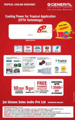general-air-conditioners-jai-unison-sales-india-pvt-ltd-authorized-dealers-ad-delhi-times-20-03-2021