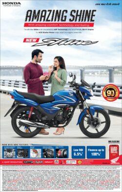 honda-amazing-shine-new-bike-honda-shine-ad-delhi-times-21-03-2021
